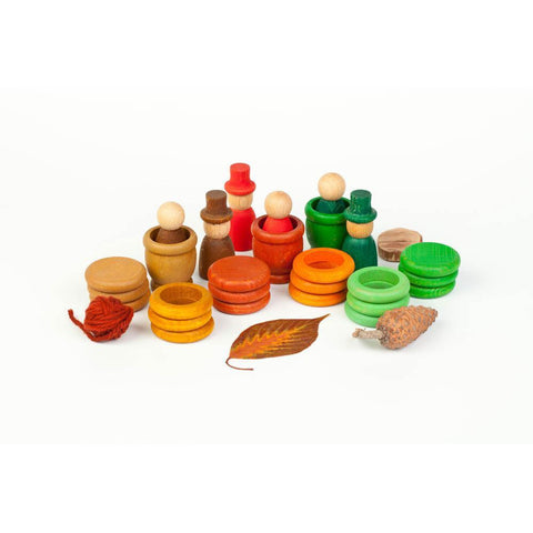 Grapat autumn wood nins, mates, rings, and coins-blocks & building sets-Fire the Imagination-Dilly Dally Kids