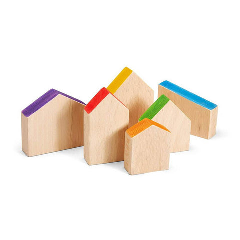 Grapat coloured houses-blocks & building sets-Grapat-Dilly Dally Kids