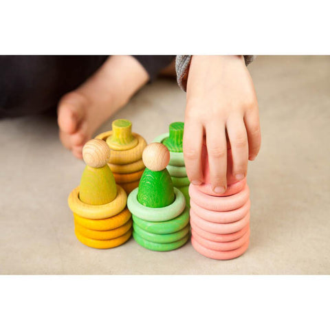 Grapat spring wood nins, mates, rings, and coins-blocks & building sets-Fire the Imagination-Dilly Dally Kids