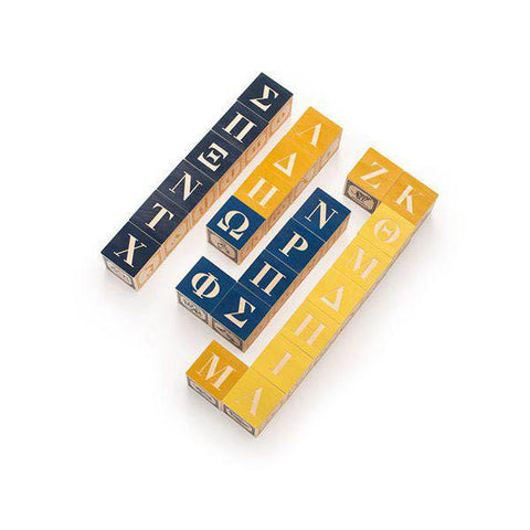 Greek ABC blocks-blocks & building sets-Uncle Goose-Dilly Dally Kids