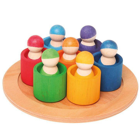 Grimm's 7 friends including bowls-blocks & building sets-Fire the Imagination-Dilly Dally Kids