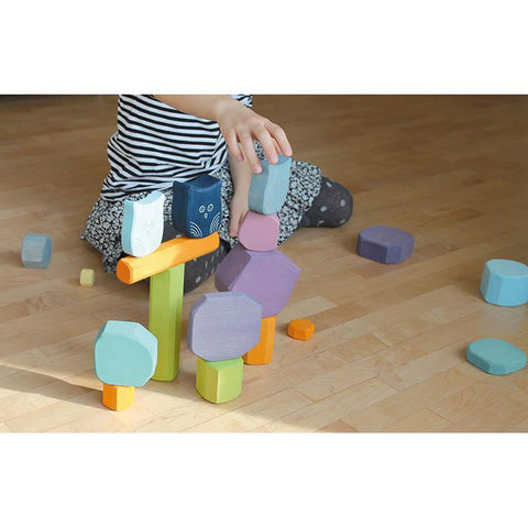 Grimm's building blocks tree slices-blocks & building sets-Fire the Imagination-Dilly Dally Kids