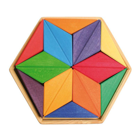 Grimm's complementary star puzzle-blocks & building sets-Fire the Imagination-Dilly Dally Kids