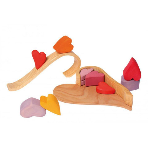 Grimm's hearts block set-blocks & building sets-Fire the Imagination-Dilly Dally Kids