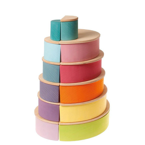 Grimm's large pastel rainbow-blocks & building sets-Fire the Imagination-Dilly Dally Kids