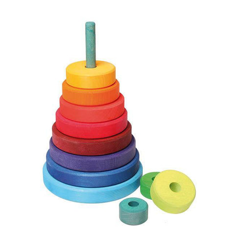 Grimm's large rainbow stacking tower-baby-Fire the Imagination-Dilly Dally Kids