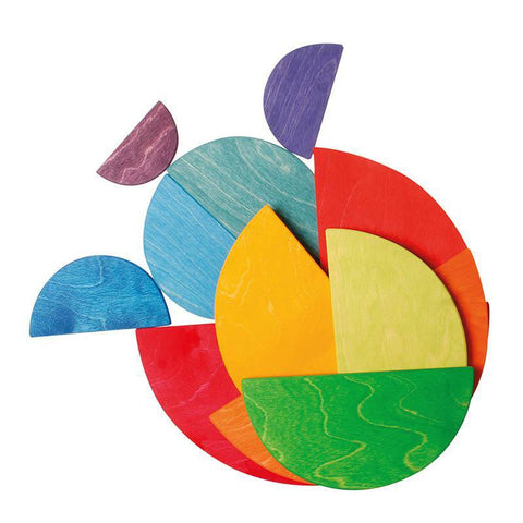 Grimm's large semi circles - rainbow-blocks & building sets-Fire the Imagination-Dilly Dally Kids