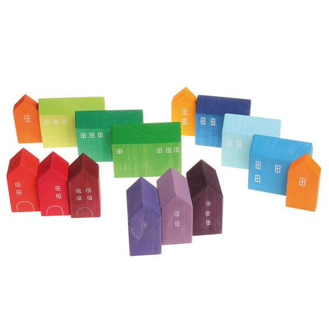 Grimm's little houses block set-blocks & building sets-Fire the Imagination-Dilly Dally Kids