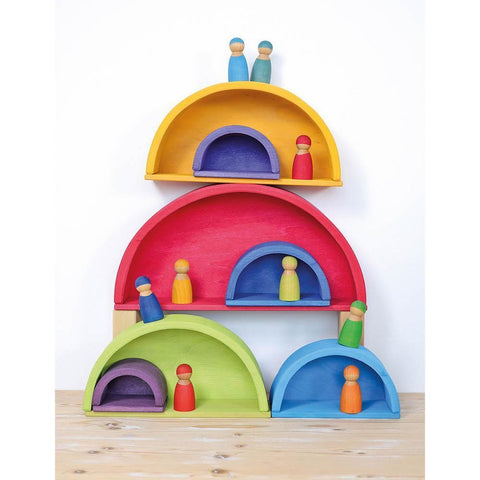 Grimm's rainbow building boards-blocks & building sets-Fire the Imagination-Dilly Dally Kids