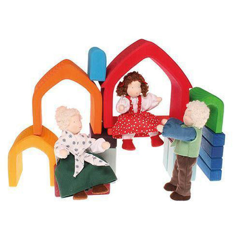 Grimm's rainbow house stacker-blocks & building sets-Fire the Imagination-Dilly Dally Kids
