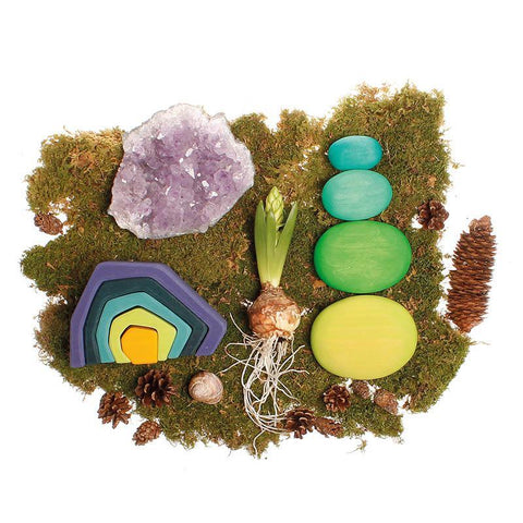 Grimm's river pebbles - green-blocks & building sets-Fire the Imagination-Dilly Dally Kids
