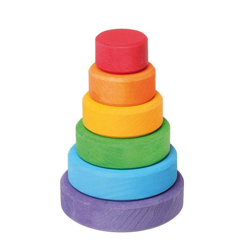 Grimm's small rainbow stacking tower-baby-Fire the Imagination-Dilly Dally Kids