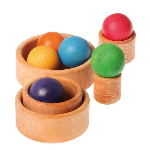 Grimm's small stacking bowls - natural-baby-Fire the Imagination-Dilly Dally Kids