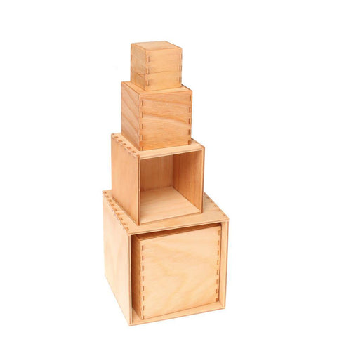 Grimm's small stacking boxes - natural-blocks & building sets-Fire the Imagination-Dilly Dally Kids