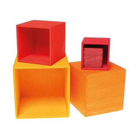 Grimm's small warm toned stacking boxes-blocks & building sets-Fire the Imagination-Dilly Dally Kids