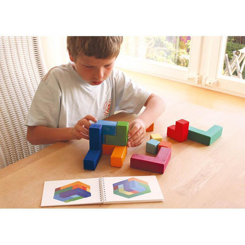 Grimm's square puzzle - large-blocks & building sets-Fire the Imagination-Dilly Dally Kids