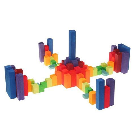 Grimm's stepped counting blocks 2cm-blocks & building sets-Fire the Imagination-Dilly Dally Kids