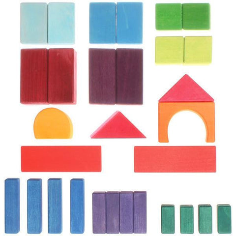 Grimm's wooden building blocks set of 30-blocks & building sets-Fire the Imagination-Dilly Dally Kids
