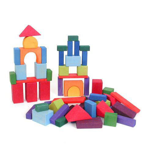 Grimm's wooden building blocks set of 60-blocks & building sets-Fire the Imagination-Dilly Dally Kids