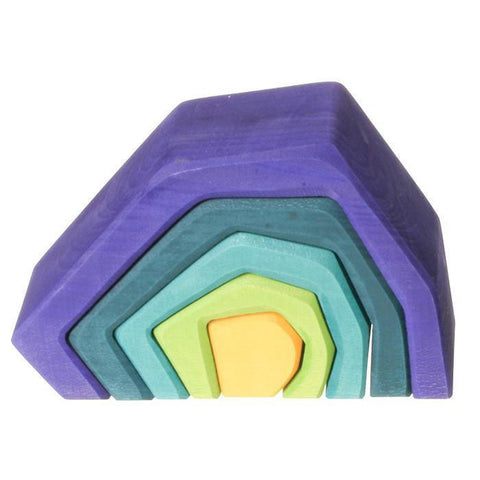 Grimm's wooden cave stacker-blocks & building sets-Fire the Imagination-Dilly Dally Kids