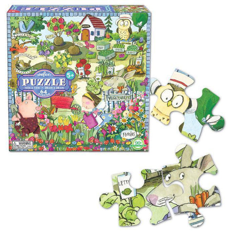 growing a garden 64 piece puzzle-puzzles-eeBoo Toys & Gifts-Dilly Dally Kids