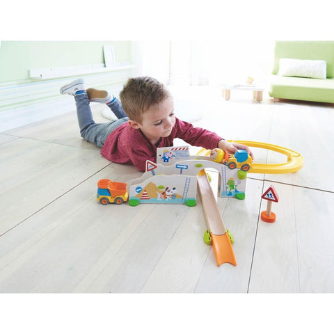 Haba kullerbu at the construction site play track-blocks & building sets-Haba-Dilly Dally Kids