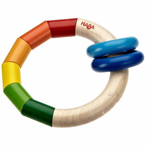 Haba rainbow ring clutching toy-baby-Haba-Dilly Dally Kids