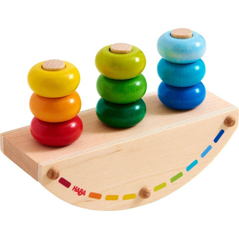 Haba rainbow rocker stacking toy-baby-Haba-Dilly Dally Kids