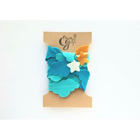 handmade felt sleep time garland-decor-Emerald and Ginger-Dilly Dally Kids
