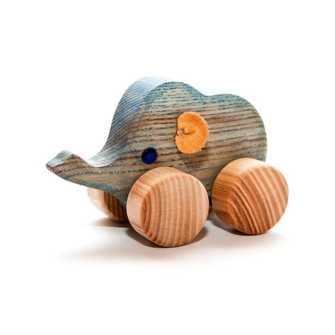 heirloom small elephant-toddler vehicles-Wooden Frog-Dilly Dally Kids