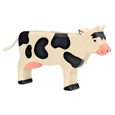 wooden cow-figures-Holztiger-Dilly Dally Kids