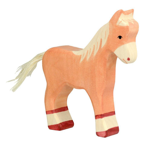 wooden foal horse-people, animals & lands-Holztiger-Dilly Dally Kids