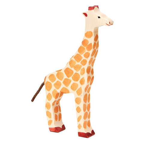 wooden giraffe-people, animals & lands-Holztiger-Dilly Dally Kids