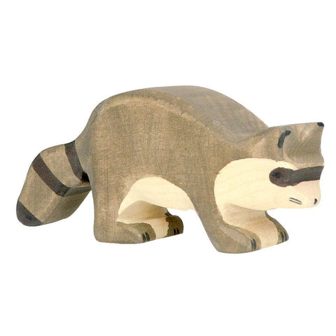 wooden raccoon-people, animals & lands-Holztiger-Dilly Dally Kids