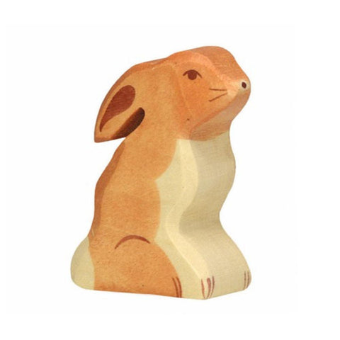 wooden sitting bunny-people, animals & lands-Holztiger-Dilly Dally Kids