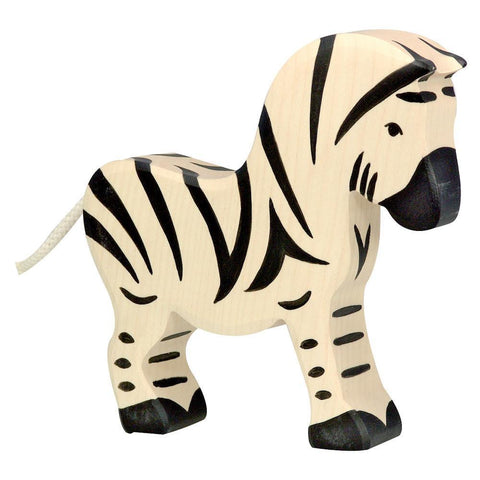 wooden zebra-people, animals & lands-Holztiger-Dilly Dally Kids