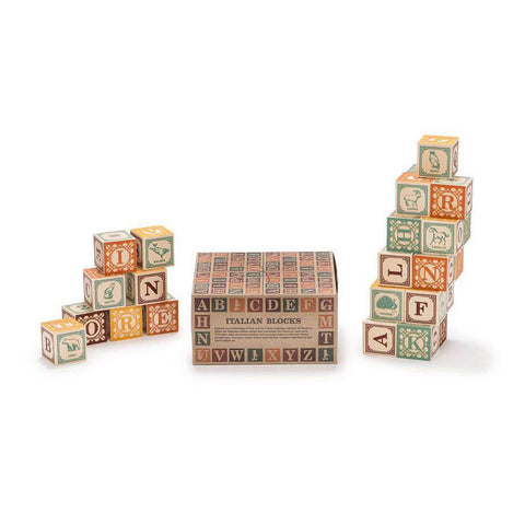 Italian ABC blocks-blocks & building sets-Uncle Goose-Dilly Dally Kids