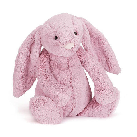 Jellycat bashful tulip pink bunny (small)-puppets, stuffies & dolls-Jellycat-Dilly Dally Kids