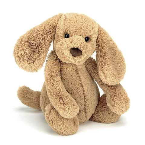 Jellycat medium bashful toffee puppy-puppets, stuffies & dolls-Jellycat-Dilly Dally Kids