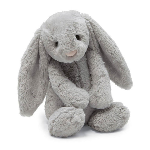 Jellycat small bashful grey bunny-puppets, stuffies & dolls-Jellycat-Dilly Dally Kids
