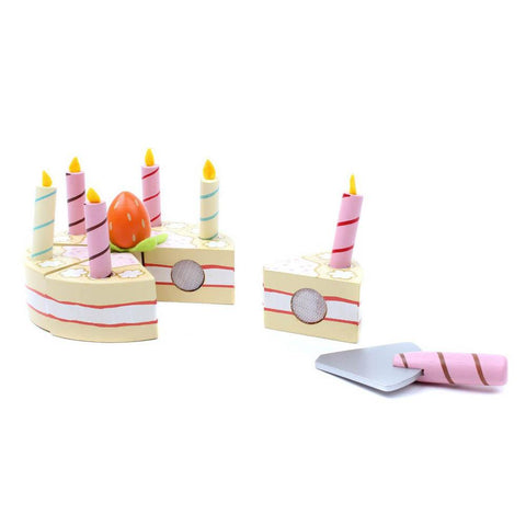 Le Toy Van Honeybake vanilla wooden birthday cake-pretend play-Le Toy Van-Dilly Dally Kids