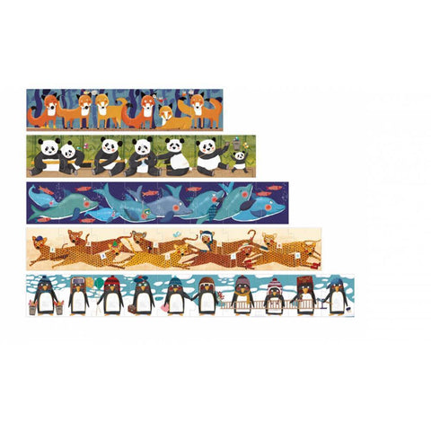 Londji 10 penguins puzzle-puzzles-Fire the Imagination-Dilly Dally Kids