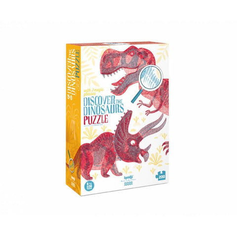 discover the dinosaurs 200 piece puzzle-puzzles-Fire the Imagination-Dilly Dally Kids