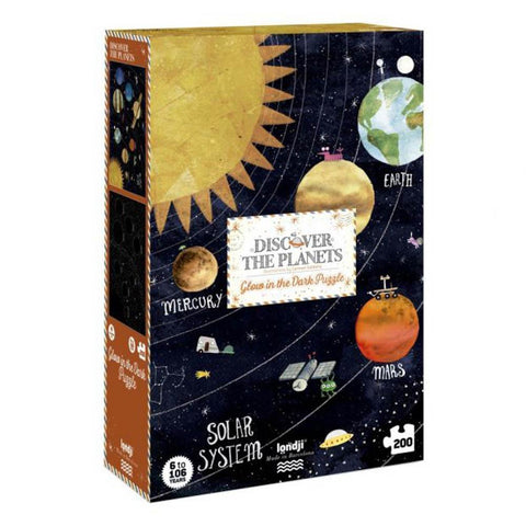 Londji discover the planets 200 piece puzzle-puzzles-Fire the Imagination-Dilly Dally Kids
