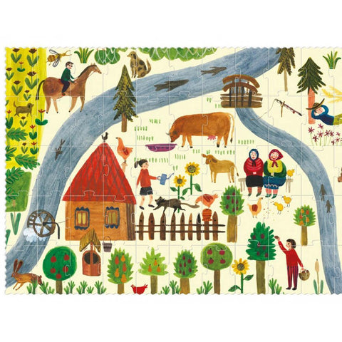Londji enjoy the farm 100 piece puzzle-puzzles-Fire the Imagination-Dilly Dally Kids