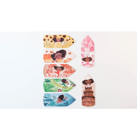 Londji i love my colours reversible 7 x 3 piece puzzles