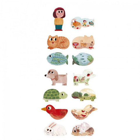 Londji I love my pets 21 piece puzzle-puzzles-Fire the Imagination-Dilly Dally Kids