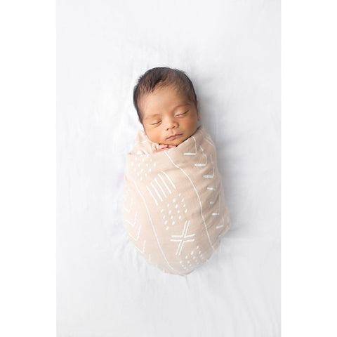 loulou lollipop almond mudcloth swaddle blanket