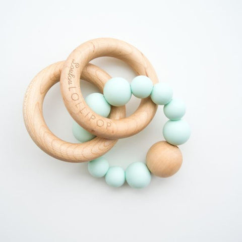 Loulou Lollipop bubble teether in mint-accessories-Loulou Lollipop-Dilly Dally Kids