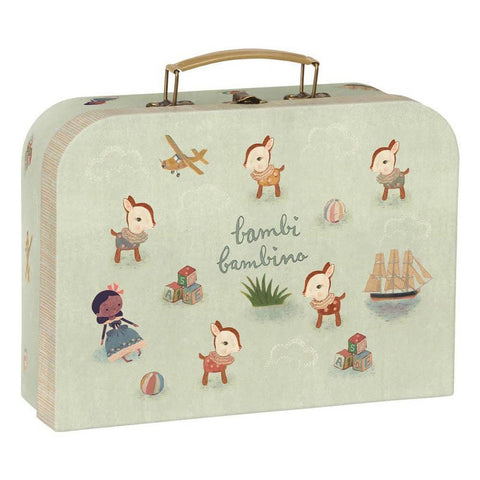 Maileg bambi deer bambino suitcase-puppets, stuffies & dolls-Maileg-Dilly Dally Kids